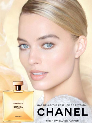 Margot Robbie celebrity ad Chanel Gabrielle Essence