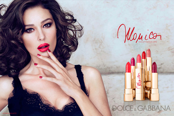 Monica Bellucci Dolce and Gabbana celebrity endorsement advertisements