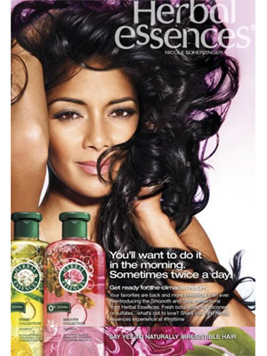 Nicole Scherzinger Herbal Essenses celebrity ads