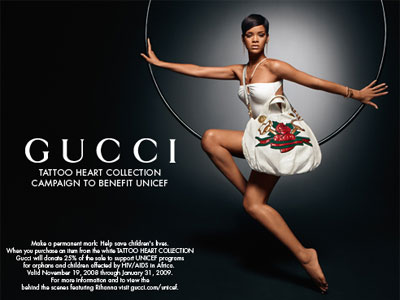 Rihanna, Gucci Tattoo Heart Collection - 2009