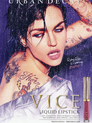 Ruby Rose Urban Decay Celebrity Ads