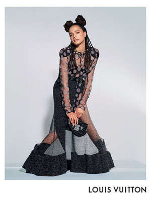 Sasha Lane Louis Vuitton Celebrity Fashionation