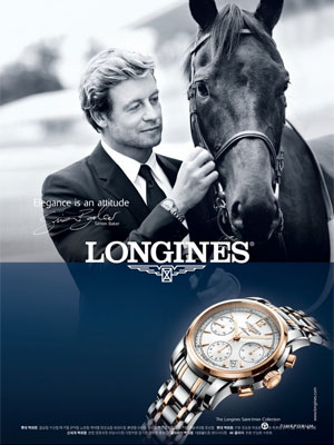 Simon Baker Longines celebrity endorsements