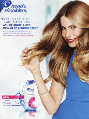 Sofia Vergara Head and Shoulders Ad