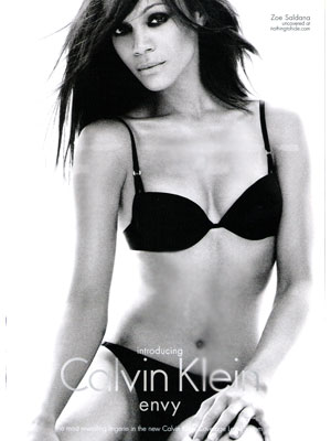Zoe Saldana Calvin Klein