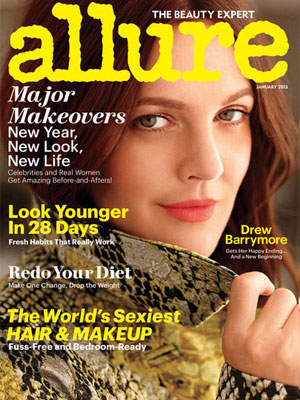 Drew Barrymore Allure Magazine January 2013