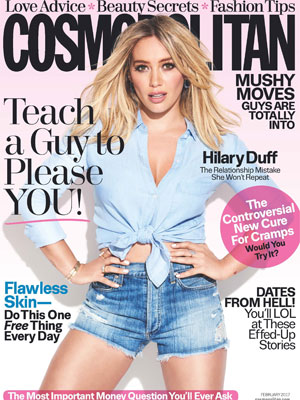 Hilary Duff Cosmopolitan Magazine February 2017