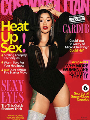 Cardi B Cosmopolitan Magazine April 2018