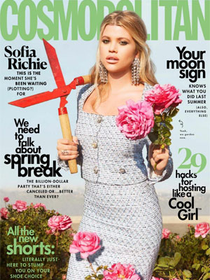 Sofia Richie Cosmopolitan April 2020