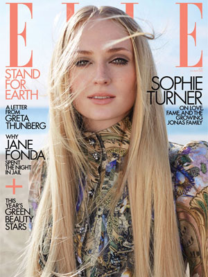 Sophie Turner Elle April 2020