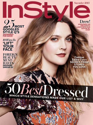 Drew Barrymore InStyle Magazine November 2015