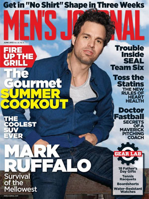Mark Ruffalo Men's Journal Magazine June 2013